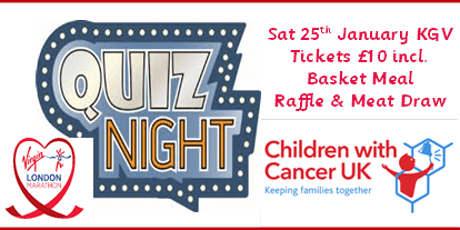 Ultimate Pub Quiz Fundraiser for 'Children with Cancer UK' tickets