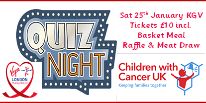 Ultimate Pub Quiz Fundraiser for 'Children with Cancer UK'