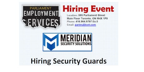 HIRING EVENT: Meridian Security Solutions tickets