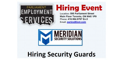 HIRING EVENT: Meridian Security Solutions