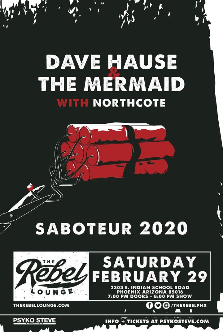 Phoenix Events February 2020.Dave Hause The Mermaid