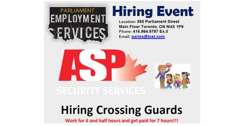 HIRING EVENT: ASP Security Services
