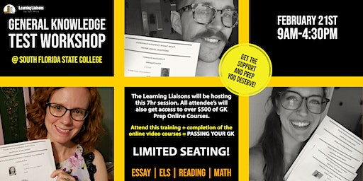 FTCE Prep:  How To Pass Your General Knowledge Test @ South Florida State College