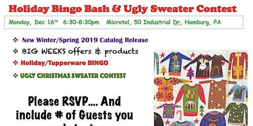 Holiday BINGO & Ugly Sweater Contest