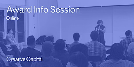 Creative Capital Award Application Info Session - Online tickets