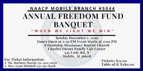 Mobile Branch NAACP #5044 FREEDOM FUND BANQUET tickets