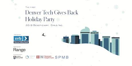 Denver Tech Gives Back tickets