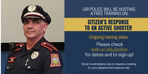 Citizen's Response to Active Shooter Event Training  -December 18th at 10am