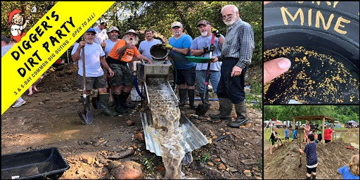 Digger's Dirt Party: Gold Mining Common Dig Outing at – Loud Mine, GA
