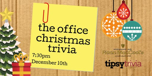 The Office Christmas Trivia - Dec 10, 7:30pm - Kitchener Fionn MacCool's