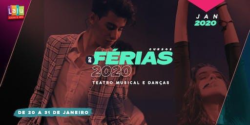 Cursos de Férias da Lalu | Teatro Musical & Danças | Janeiro 2020