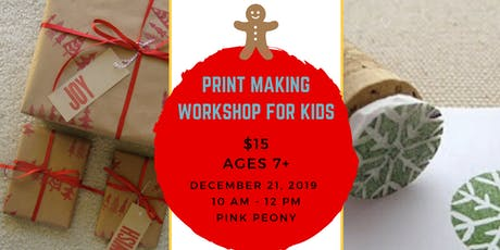 Print Making Workshop for Kids tickets