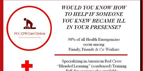 RED CROSS-CPR FIRST AID RESCUE TRAINING tickets