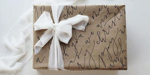 Calligraphy Gift Wrapping Event at Crate and Barrel Yorkdale