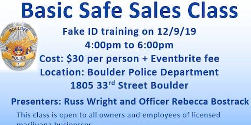 Basic Safe Sales Class