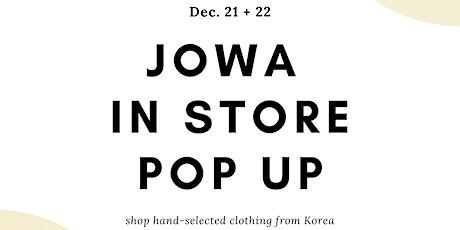 Jowa In Store Pop Up at Apt. F tickets
