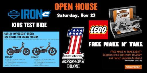 OPEN HOUSE - KIDS IRONe TEST RIDE & LEGO MAKE 'N TAKE