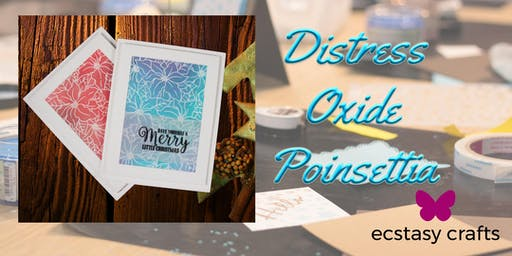 Distress Oxide Poinsettia Card