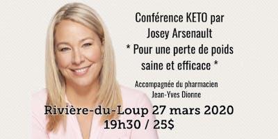 RIVIÈRE-DU-LOUP -  Conférence KETO - Pour une perte de poids saine et efficace! 25$