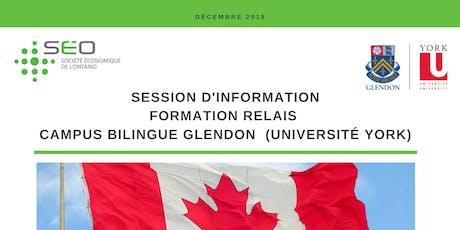 Session d'information - Formation du Campus bilingue Glendon billets