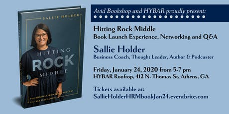 Sallie Holder HITTING ROCK MIDDLE Launch Party presented by Avid Bookshop tickets