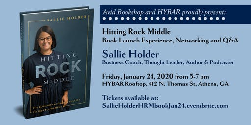Sallie Holder HITTING ROCK MIDDLE Launch Party presented by Avid Bookshop