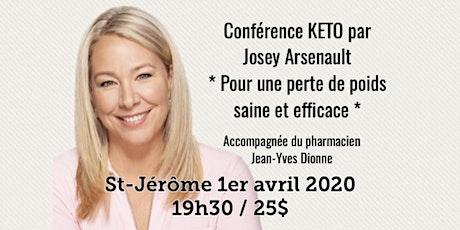 ST-JÉRÔME - Conférence KETO Pour une perte de poids saine et efficace! 25$ billets