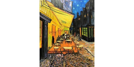 Paint it like Van Gogh Café Terrace at Night - Paint 'n' Lunch Afternoon