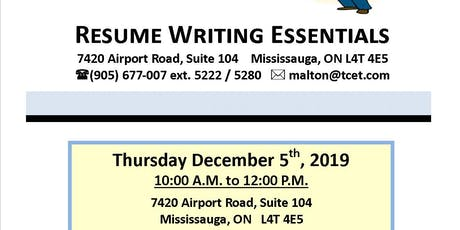 Resume Writing Essentials tickets