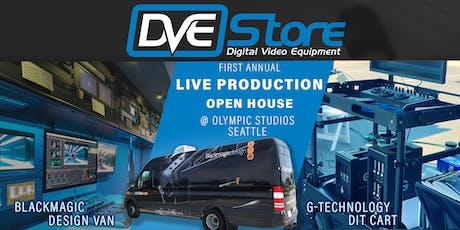 DVE Store's Production Open House w/Blackmagic Design Van & G-Tech DIT Cart tickets