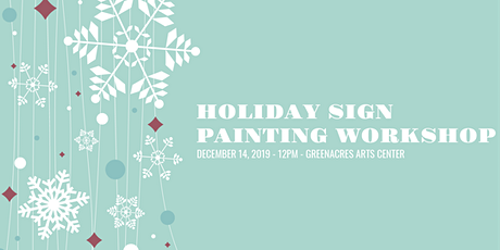 Holiday Sign Workshop tickets