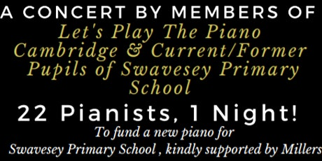 Let's Play The Piano Cambridge - Annual Charity Concert (£7/U16 Free) tickets
