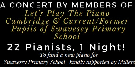 Let's Play The Piano Cambridge - Annual Charity Concert (£7/U16 Free)