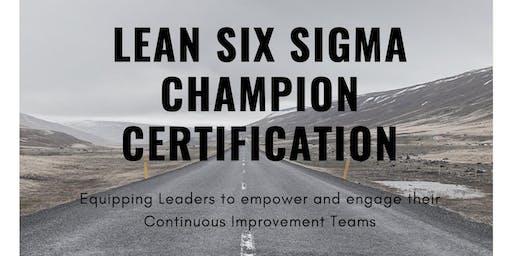 Lean Six Sigma Champion Certification