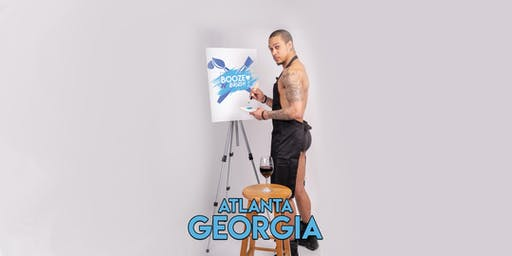 Booze N' Brush Next to Naked Sip n' Paint Atlanta, GA - Exotic Male Model Painting Event