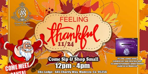 Feeling Thankful sip & shop event