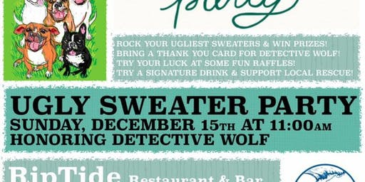 Ugly Sweater Party Honoring Detective Wolf