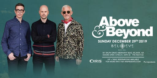 Above & Beyond - 21+ Open Early | IrisESP101 Learn to Believe | Sun Dec 29