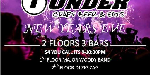 New YEARS EVE 2 Floors 3 BARS Major Woody & DJ Zig Zag