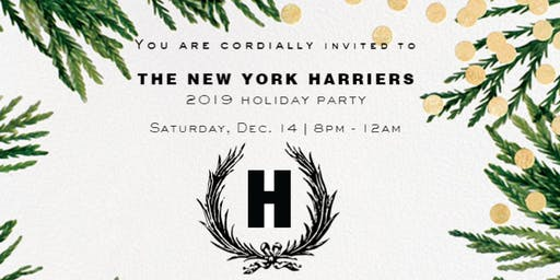 2019 New York Harriers Holiday Party