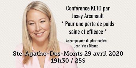 STE-AGATHE-DES-MONTS - Conférence KETO Pour une perte de poids saine et efficace! 25$ billets