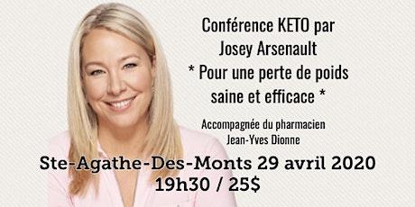 STE-AGATHE-DES-MONTS - Conférence KETO Pour une perte de poids saine et efficace! 25$ tickets