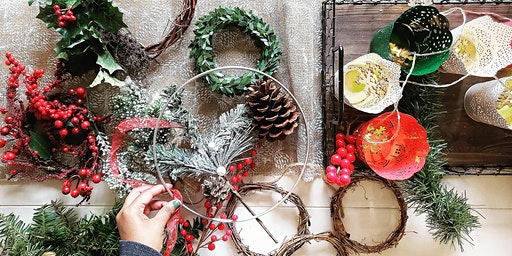 Festive Wreath Making Workshop with Bubbles & Mince Pies