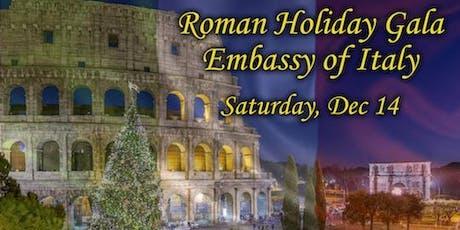 Roman Holiday Gala at the Embassy of Italy tickets