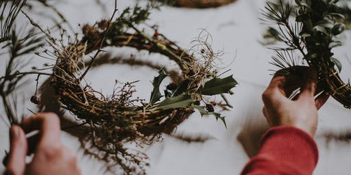 Scandinavian Inspired Festive Wreath Workshop with Bubbles & Mince Pies