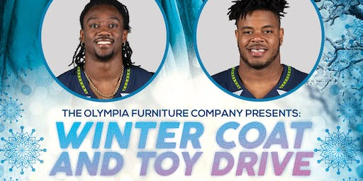 Winter Coat & Toy Drive with our Seattle Seahawks Special Guest