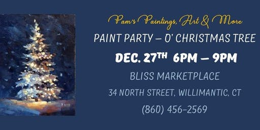 Paint Party - O' Christmas Tree