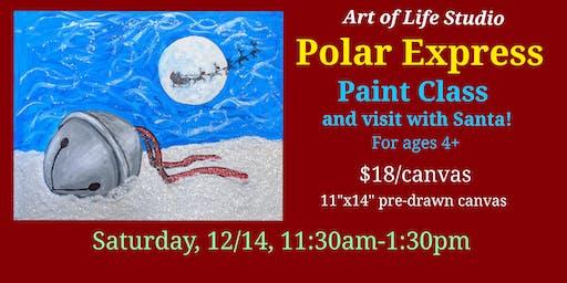 Paint Class & Santa Visit: Polar Express