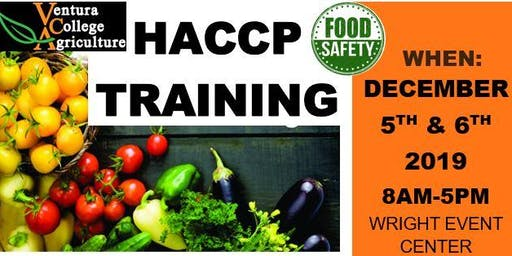 Ventura College Food Safety  HACCP Training