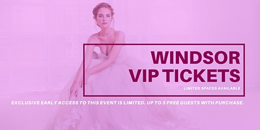 Opportunity Bridal VIP Early Access Windsor Pop Up Wedding Dress Sale